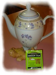 ginger tea and tea pot