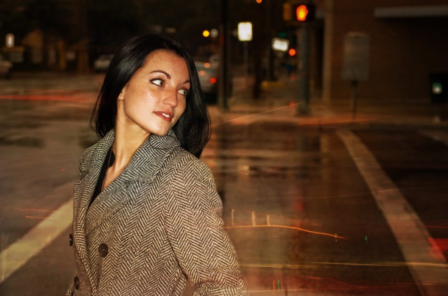 In the rain on the streets of Austin