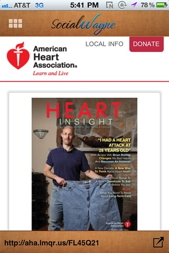 American Heart Association QR Code kroger ad