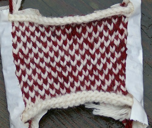 fair isle test swatch