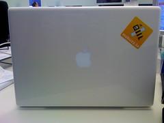 Pegatina en el MacBook