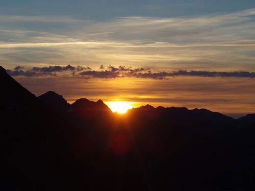 lever de soleil sur la bonette