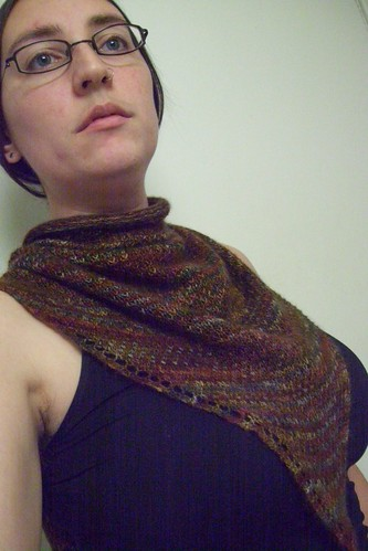 eye of partridge shawl-- front view