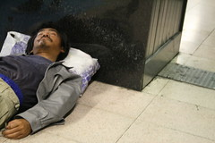 The end is near: Homeless man , Tokyo