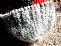 highland stockings-cast on