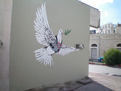 Banksy: Armoured Peace Dove