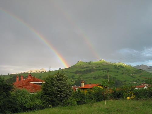 Doble arco iris en Lierganes