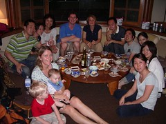 Our wonderful hosts for dinner in Tokyo.