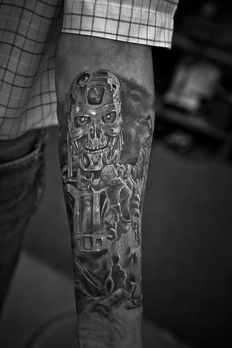 Terminator tattoo by The Tattoo Studio. Tattooed at The Tattoo Studio,