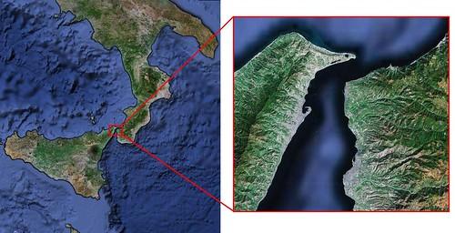 Estrecho de Mesina - Escila y Caribdis