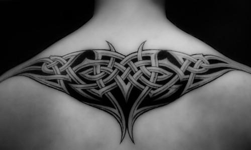 free upper back tribal tattoos