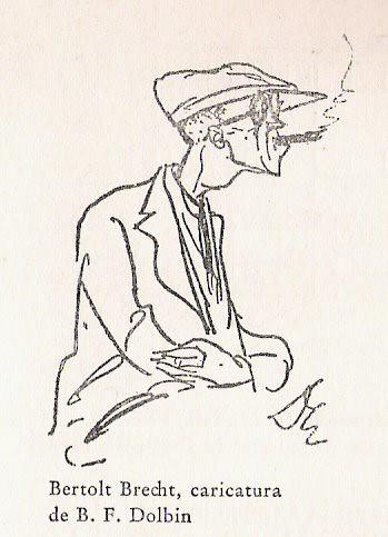 Caricatura Bertolt Brecht