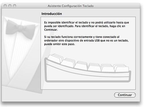 Paso uno de configuración de teclado