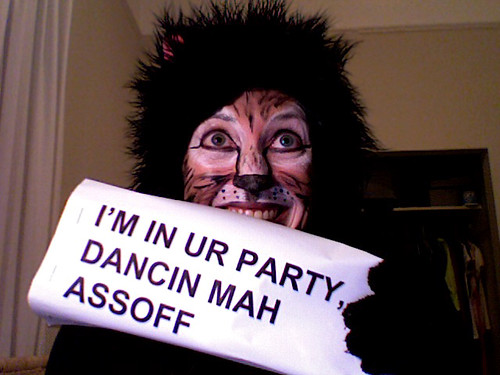 LOL Cat Costume and Makeup