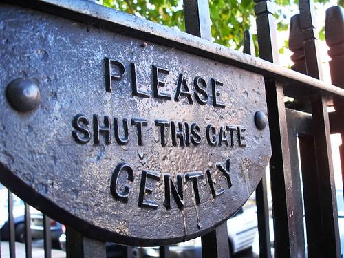 Poor pathetic gate