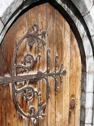 Ornate hinge on Christ Church Cathedral