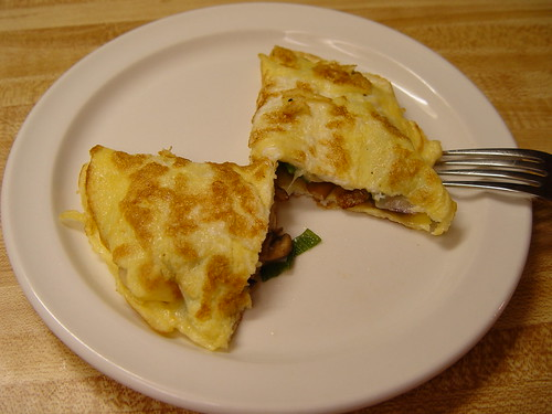 Completed omelet