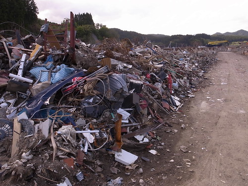 陸前高田 Rikuzentakata, deeply damaged area by the Tsunami of East Japan Quake