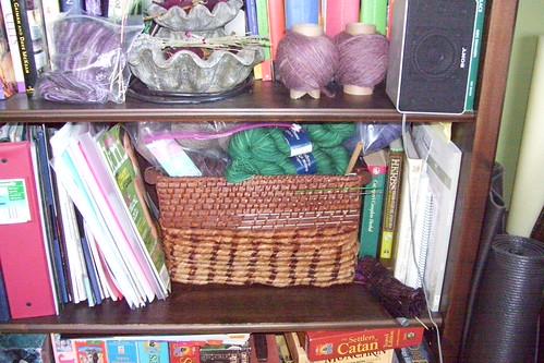 stash on bookcase