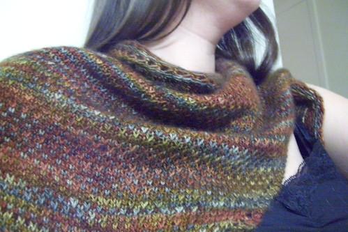 eye of partridge shawl -- stitch texture