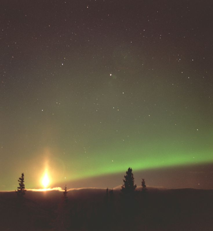 Moonset Flare Aurora