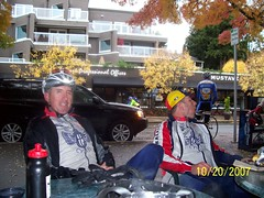 Craig and Randy pre ride.