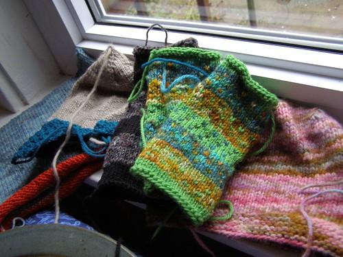 pile of knitting