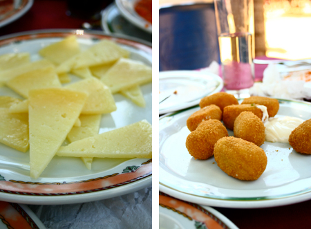 manchego cheese and croqueta