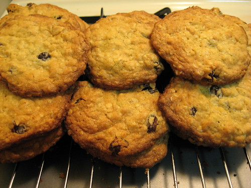 Stacks of Oatmeal Raisin Cookies