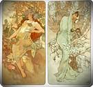 Otono e invierno 1896. Alphonse Mucha.