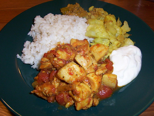 chicken curry and cauliflower