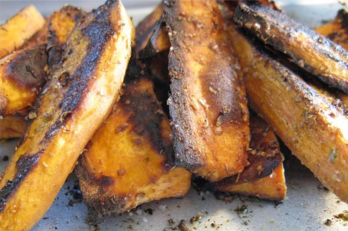 spiced yam wedges