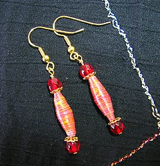 Thing 13. Paper Bead Earrings