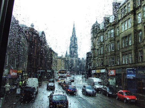 Edinburgh's Barclay Kirk from a wet bus