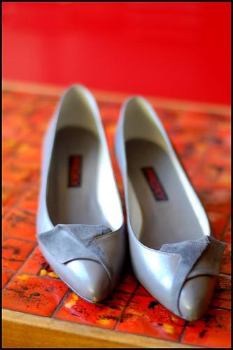 gray pumps