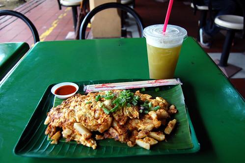 Chai Tow Kway and Sugarcane Juice