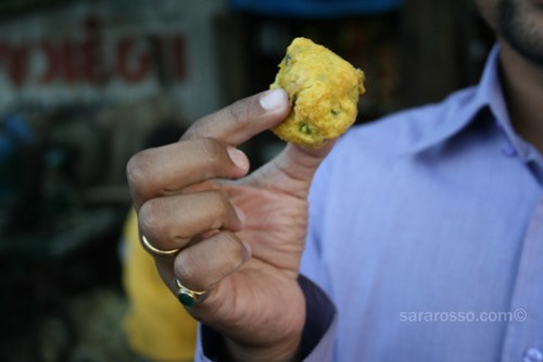 Bataka vada - fried balls of potatoes and spices