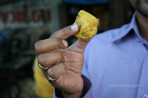 Bataka vada - fried balls of potatoes and spices