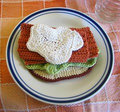 Thing 11. Crocheted Pastrami on Rye