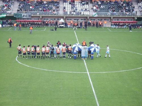 Begin van wedstrijd Banfield - Gimnasia Jujuy
