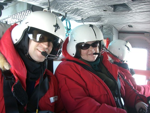 Ed and Breana in the helo