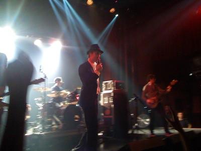 Un momento del concierto de Babyshambles