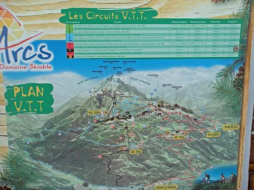 VTT Map Les Arcs