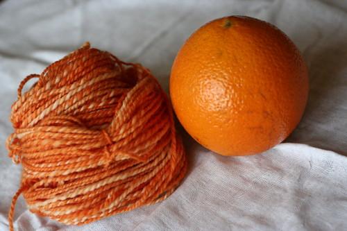 Orange handspun