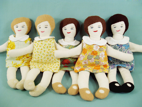 Dollies in a row.