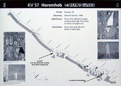 Plan de la tombe de Horemheb (vallée des Rois,...