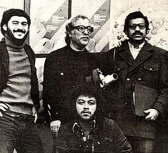 Jô Oliveira, Jayme Cortez, Rui de Oliveira e Márcio de Souza. CLIQUE PARA AMPLIAR.