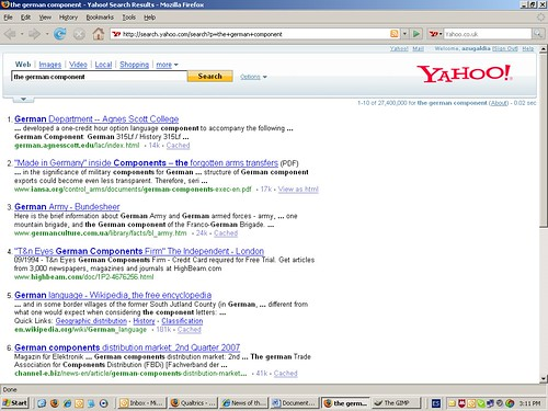 Friday - Yahoo - The German Component