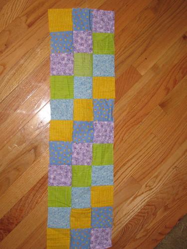 Stroller blanket in progress