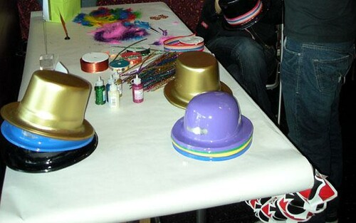 hat table (baby shower)